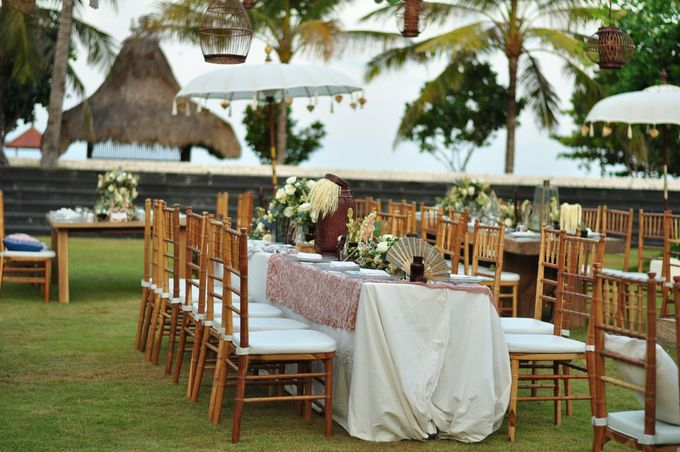 Wedding Dinner of Akta & Jinesh by The Royal Santrian Luxury Beach Villa - 042