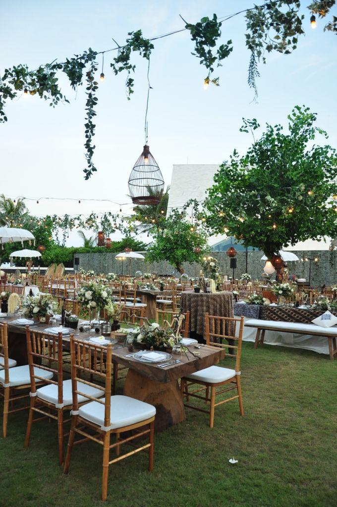 Wedding Dinner of Akta & Jinesh by The Royal Santrian Luxury Beach Villa - 043