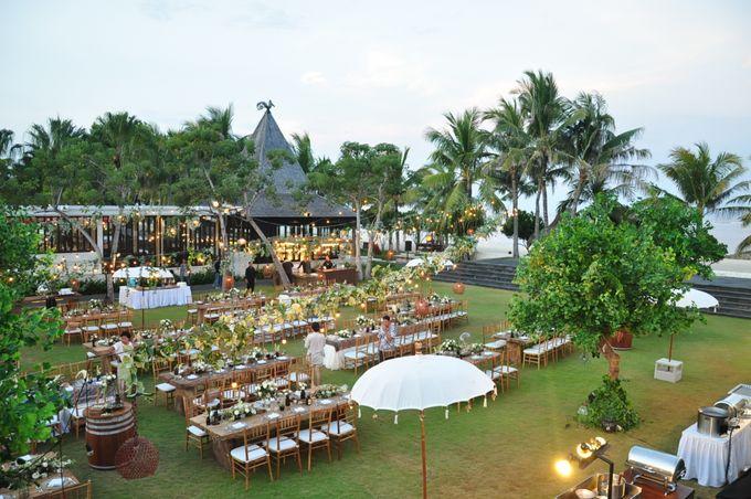 Wedding Dinner of Akta & Jinesh by The Royal Santrian Luxury Beach Villa - 044