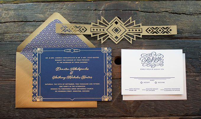 Modern Deco Themed Invitation Suite By A Good Day Inc Bridestory Com