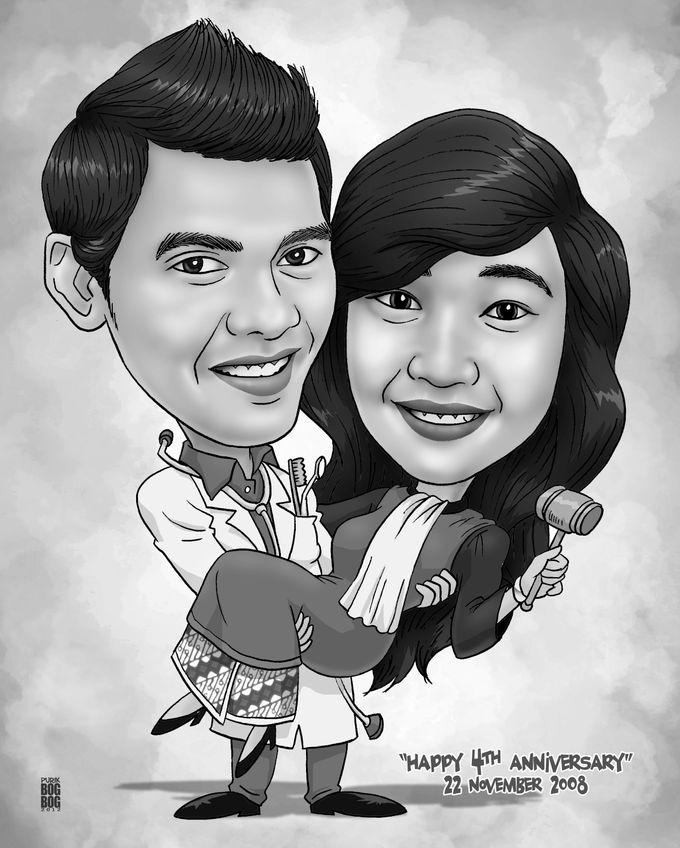 Wedding Caricature by BOG-BOG Bali Cartoon Souvenir - 009