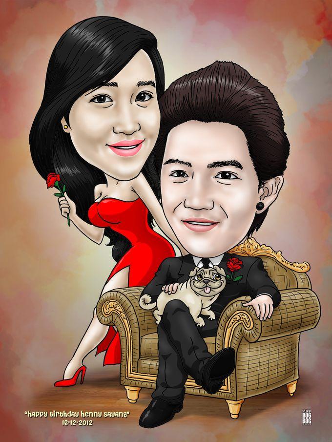 Wedding Caricature by BOG-BOG Bali Cartoon Souvenir - 013