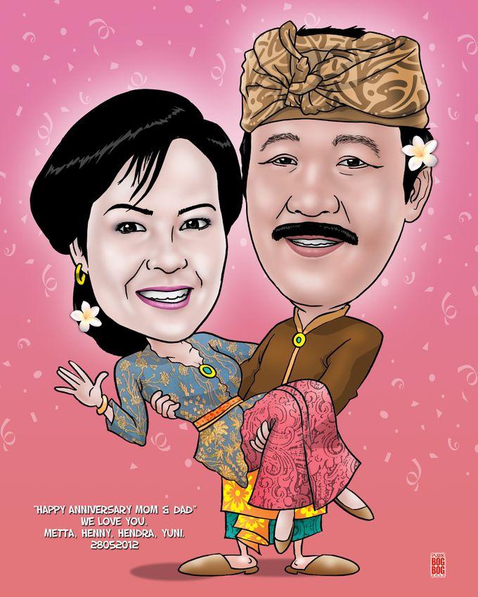 Wedding Caricature by BOG-BOG Bali Cartoon Souvenir - 011