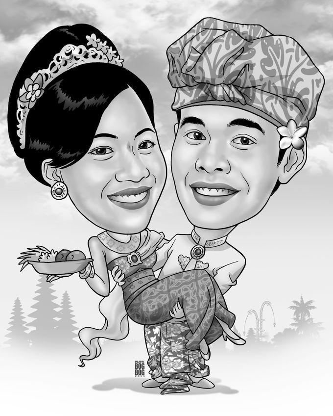 Wedding Caricature by BOG-BOG Bali Cartoon Souvenir - 012