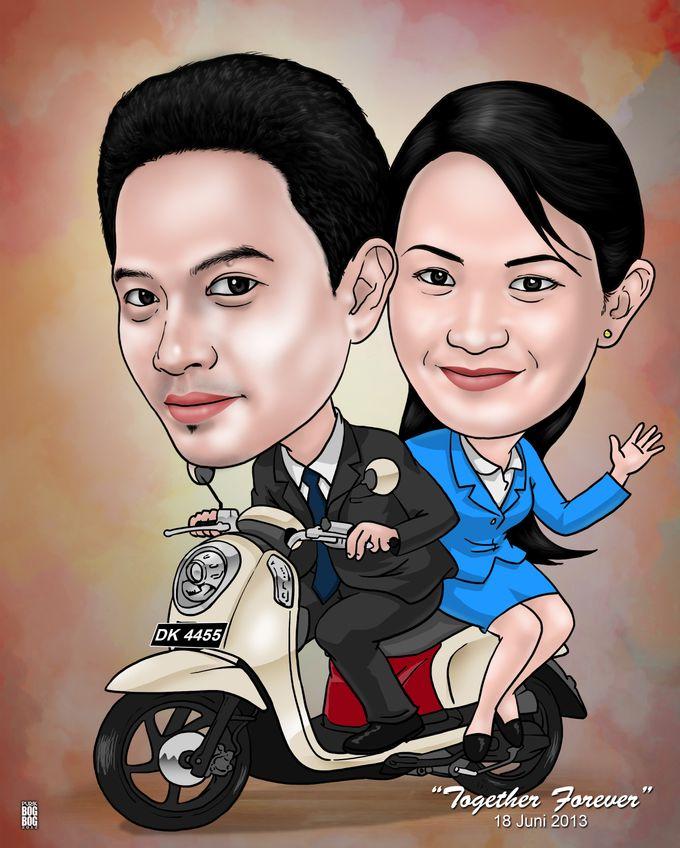 Wedding Caricature by BOG-BOG Bali Cartoon Souvenir - 014