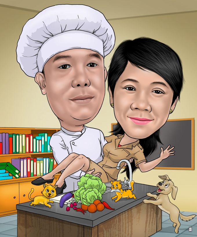 Wedding Caricature by BOG-BOG Bali Cartoon Souvenir - 016