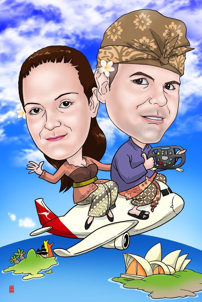 Wedding Caricature by BOG-BOG Bali Cartoon Souvenir - 015