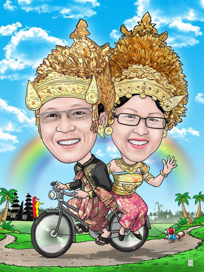 Wedding Caricature by BOG-BOG Bali Cartoon Souvenir - 001