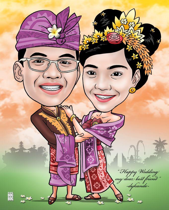 Wedding Caricature by BOG-BOG Bali Cartoon Souvenir - 003