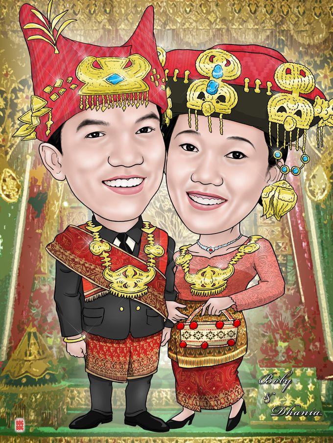 Wedding Caricature by BOG-BOG Bali Cartoon Souvenir - 004