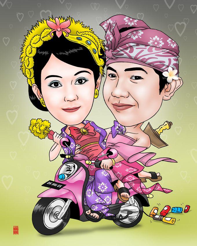 Wedding Caricature by BOG-BOG Bali Cartoon Souvenir - 006