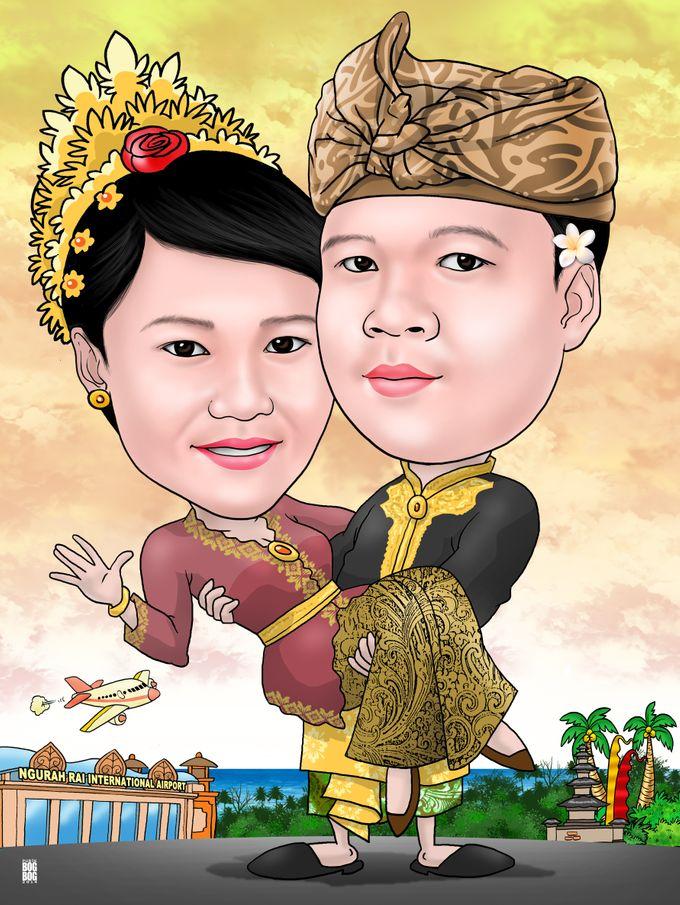 Wedding Caricature by BOG-BOG Bali Cartoon Souvenir - 008