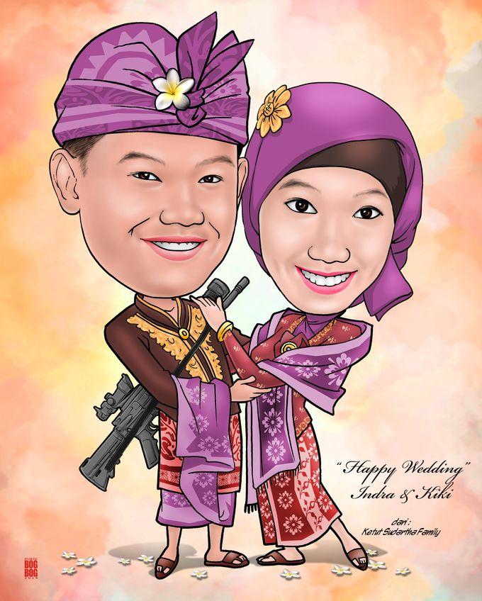 Wedding Caricature by BOG-BOG Bali Cartoon Souvenir - 007