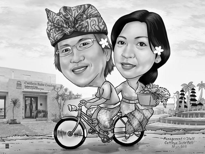 Wedding Caricature by BOG-BOG Bali Cartoon Souvenir - 010
