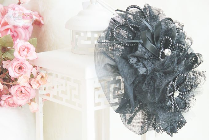 black small lady hat by mignon headdresses - 001