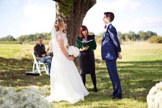 An outdoor English humanist wedding by Caught the Light - 005