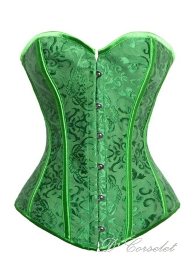 Simple Brocade Corset by D' Corselet Singapore - 009