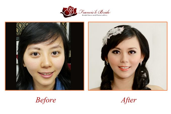 Before - After Make Up by Francis'k Bride - 006