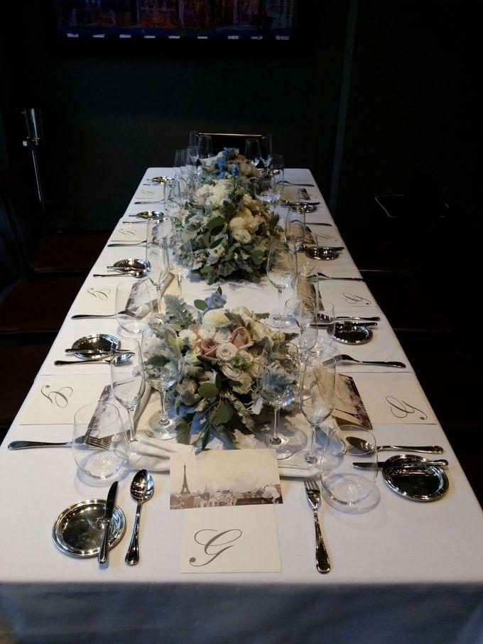 Solemnization / Reception Table / Wedding Venue Decoration by Petite Fleur SG - 010