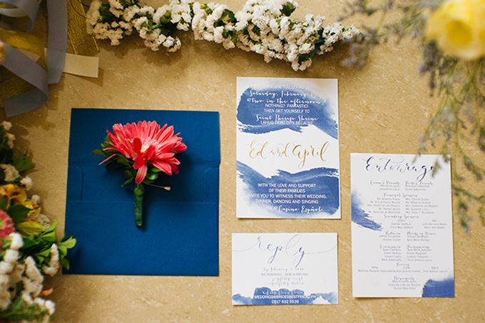 Watercolor and Calligraphy Wedding Invitations by First of April - 011