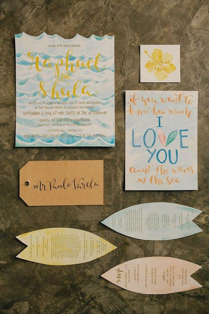 Watercolor and Calligraphy Wedding Invitations by First of April - 006
