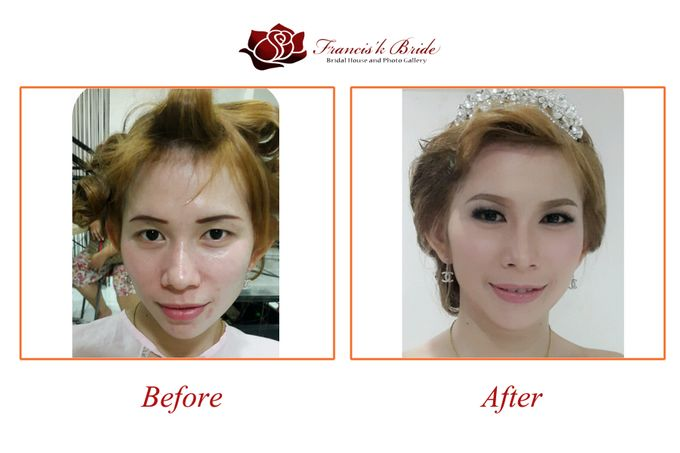 Before - After Make Up by Francis'k Bride - 007