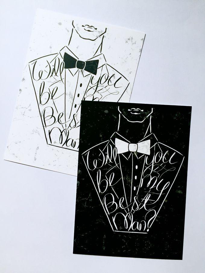best man groomsmen invitation cards by shleigh s décor