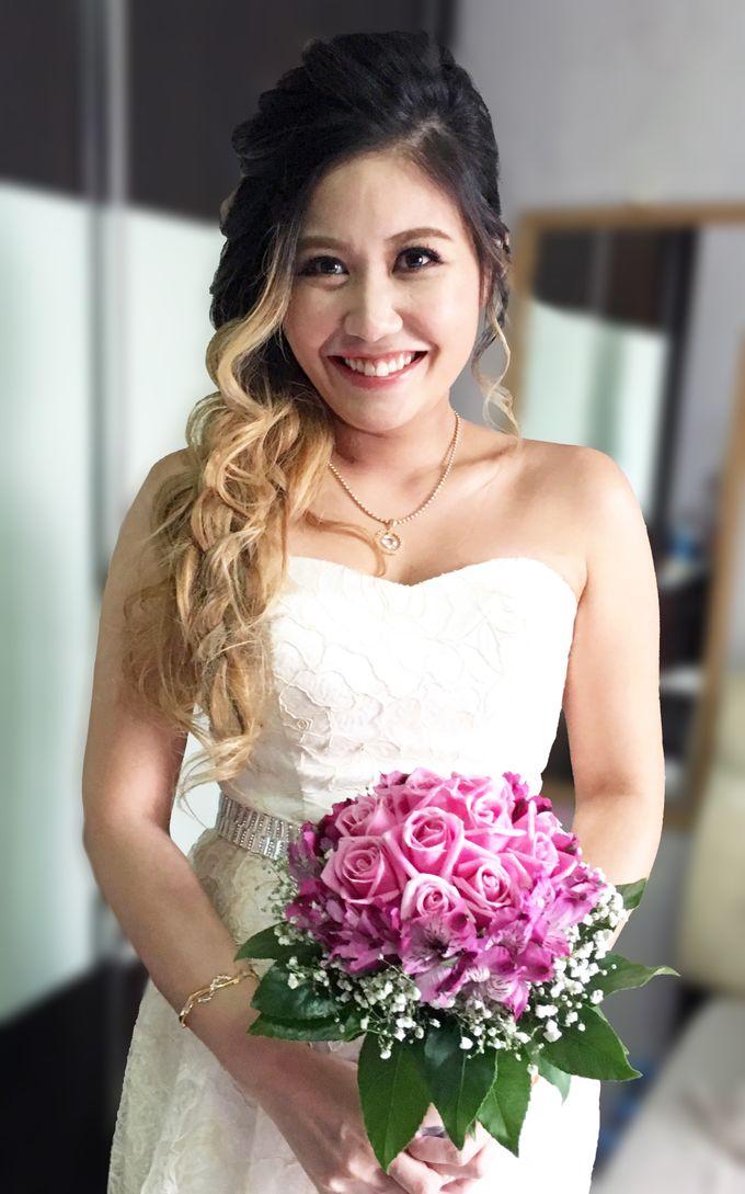 Actual Day Bridal Makeup and Hairstyling (Amanda + Joe) - Bohemian Chic by Sylvia Koh Makeup and Hairstyling - 001