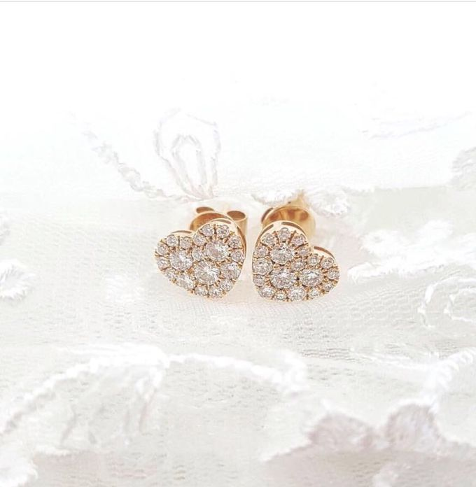 Diamond Heart Earrings by Carat 55 - 001
