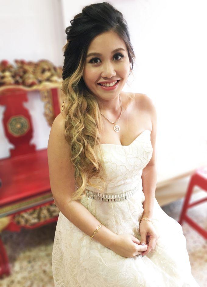 Actual Day Bridal Makeup and Hairstyling (Amanda + Joe) - Bohemian Chic by Sylvia Koh Makeup and Hairstyling - 003