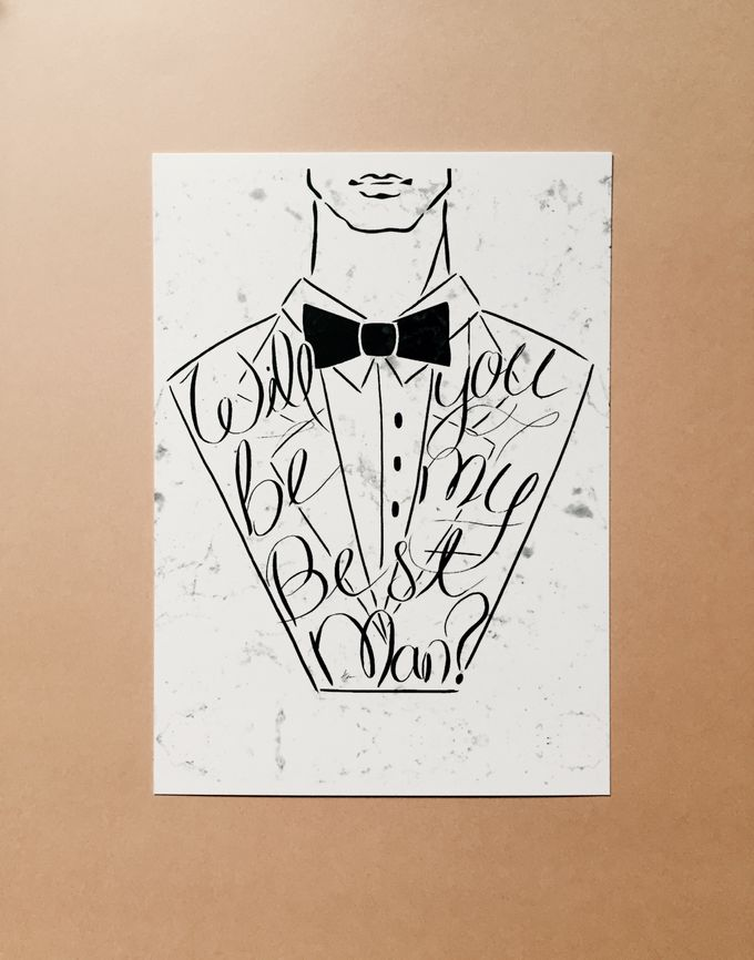 best man groomsmen invitation cards by shleigh s décor