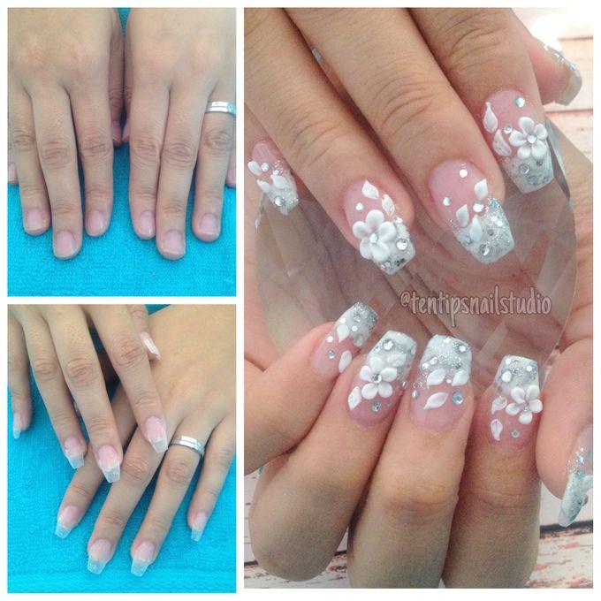 Wedding Nails by Ten Tips Nail Studio - 004