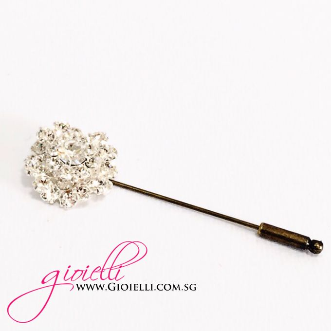 Gioielli Boutonnieres and Corsages by Gioielli Bridal Accessories & Crystal Bouquets - 002