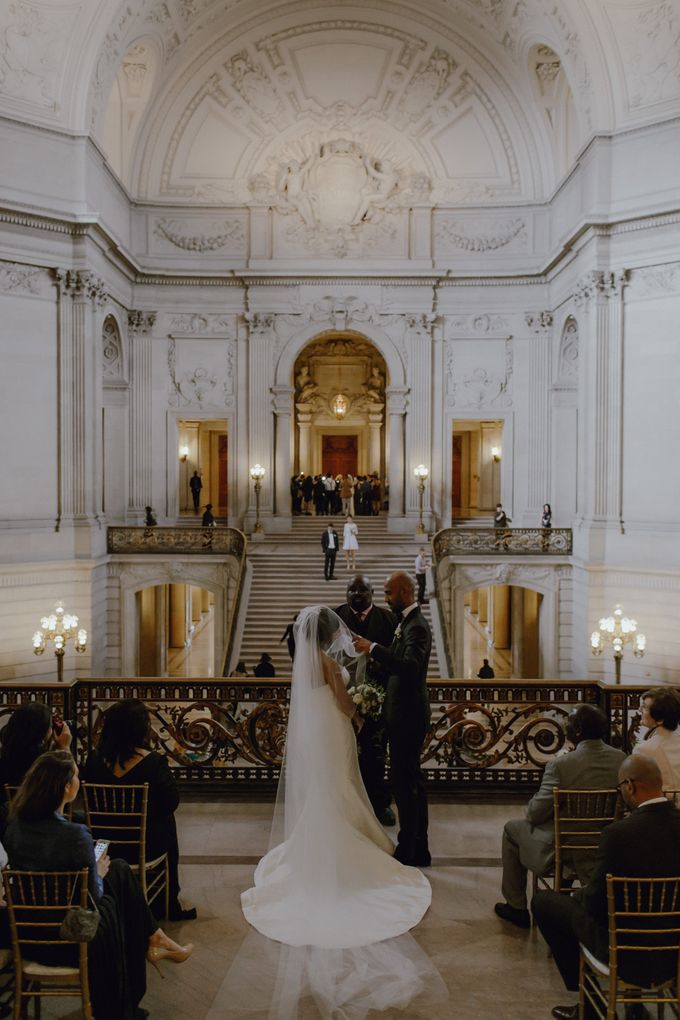 Iconic City Hall Wedding by Tamara J Events - 004