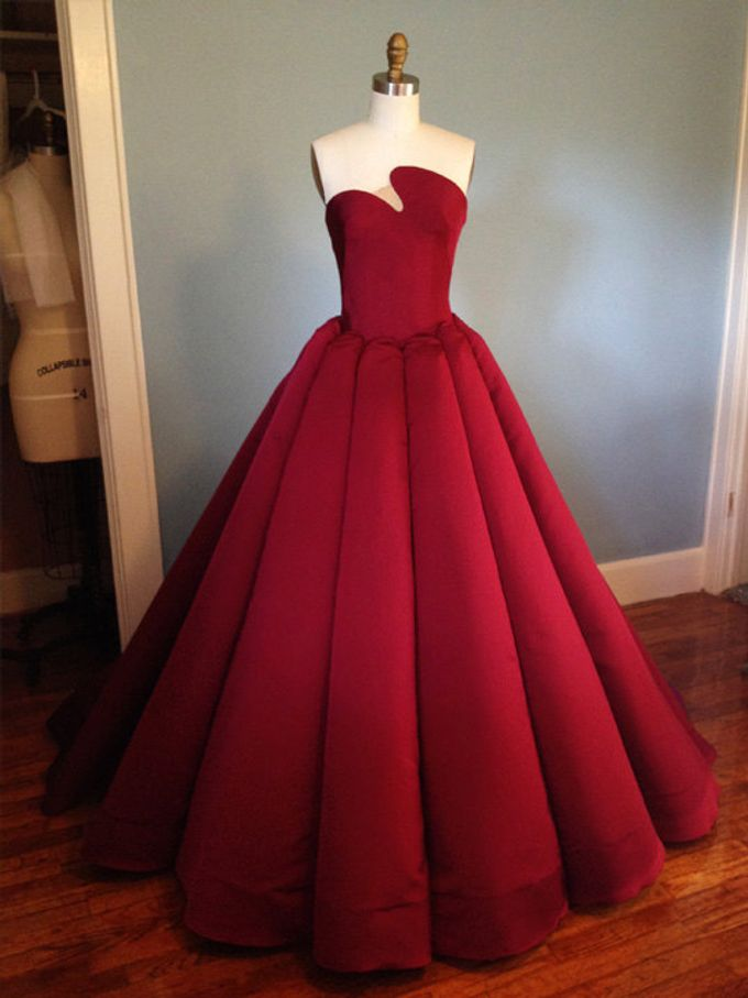 Couture Red Contemporary Ballgown by Desiree Spice - 001