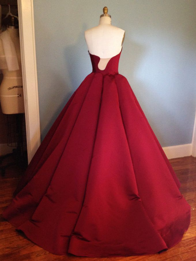 Couture Red Contemporary Ballgown by Desiree Spice - 002