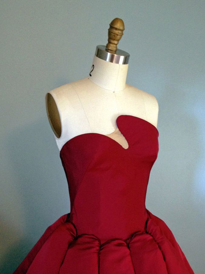 Couture Red Contemporary Ballgown by Desiree Spice - 003