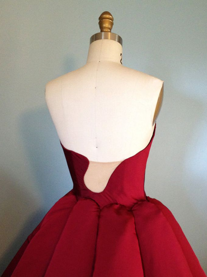 Couture Red Contemporary Ballgown by Desiree Spice - 004