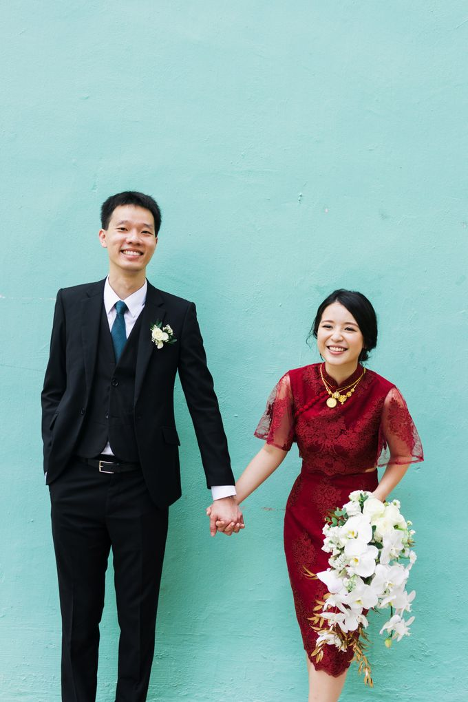 Jia Xin and Han Sheng White and Gold themed wedding celebration by With Every - 003