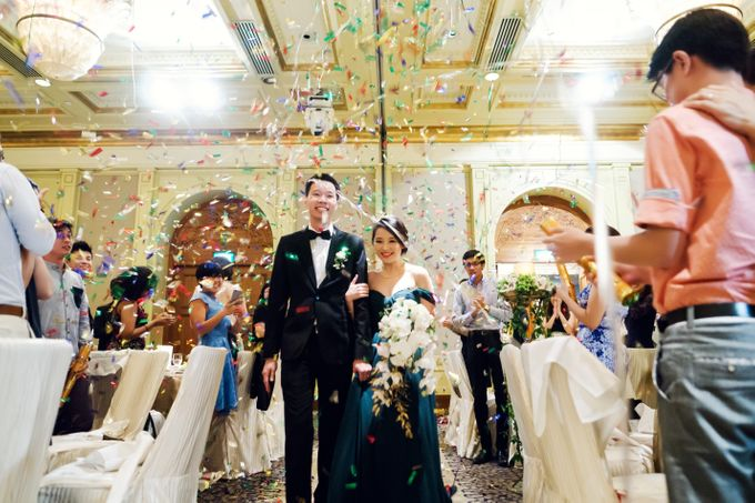 Jia Xin and Han Sheng White and Gold themed wedding celebration by With Every - 006