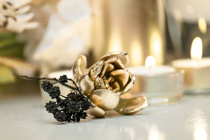 Black & Gold Winter Wedding Chic by Leanne Love Photography - 003