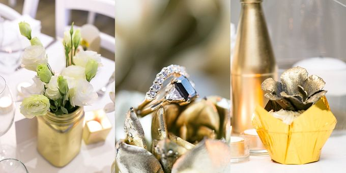 Black & Gold Winter Wedding Chic by Leanne Love Photography - 006