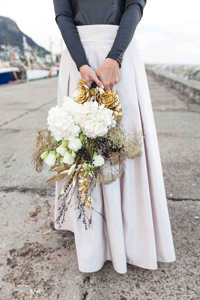 Black & Gold Winter Wedding Chic by Leanne Love Photography - 008
