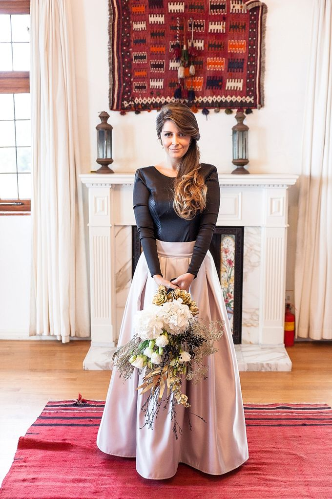Black & Gold Winter Wedding Chic by Leanne Love Photography - 015