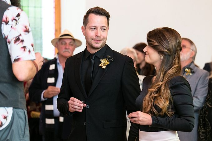 Black & Gold Winter Wedding Chic by Leanne Love Photography - 023
