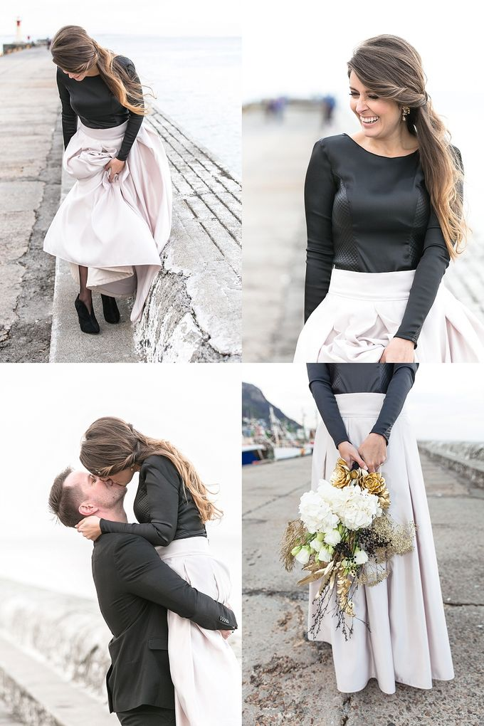 Black & Gold Winter Wedding Chic by Leanne Love Photography - 032