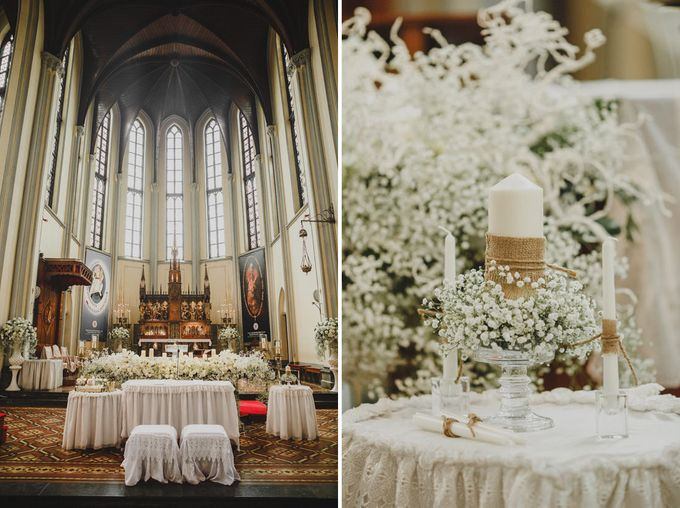 Cathedral Jakarta & The Edge Uluwatu | Duo City Wedding of Julia & Erick by ILUMINEN - 021