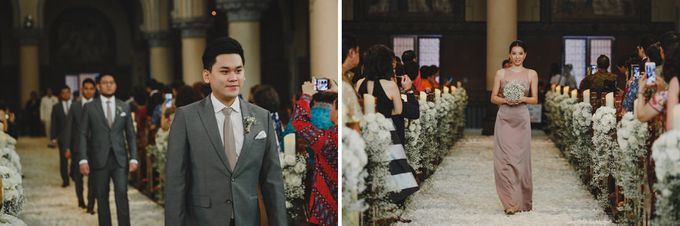Cathedral Jakarta & The Edge Uluwatu | Duo City Wedding of Julia & Erick by ILUMINEN - 023