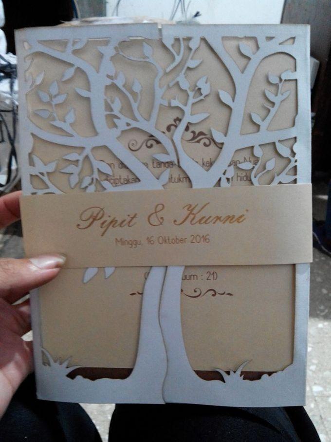 Undangan pernikahan laser cutting by Mega 28 - 002