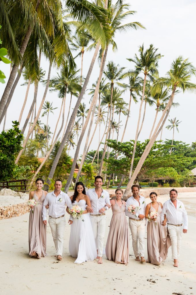 Blush Pearl Bridesmaids in Bali by Goddess By Nature - 004